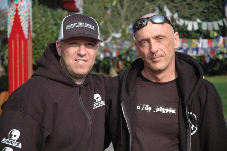Noah Levine en Frank Uyttebroeck samen