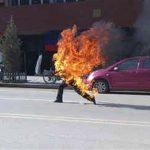 Dorje Rinchen zelfverbranding Tibet, foto Free Tibet, Londen