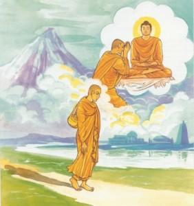 De geest is de voorloper van alle dingen, zoals iemands schaduw die hem nooit verlaat