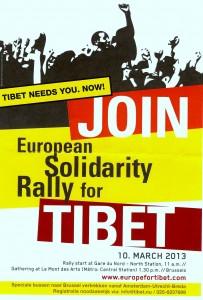 tibet manifestatie maart 2013