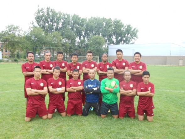 Het Franse Tibetaanse team. Foto's Bianca Visser.