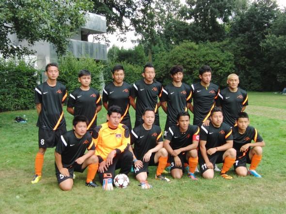 Voetbal elftal een