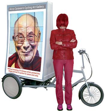 Airco Caravan Dalai-Lama-illegaal-portret