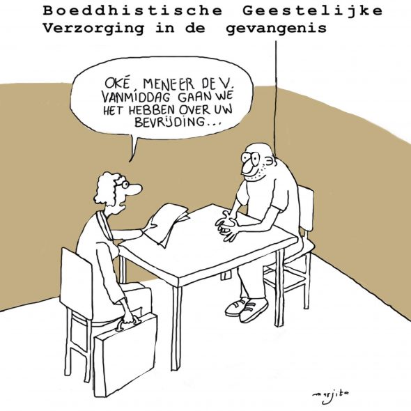 BGV in de bajes, cartoon 1
