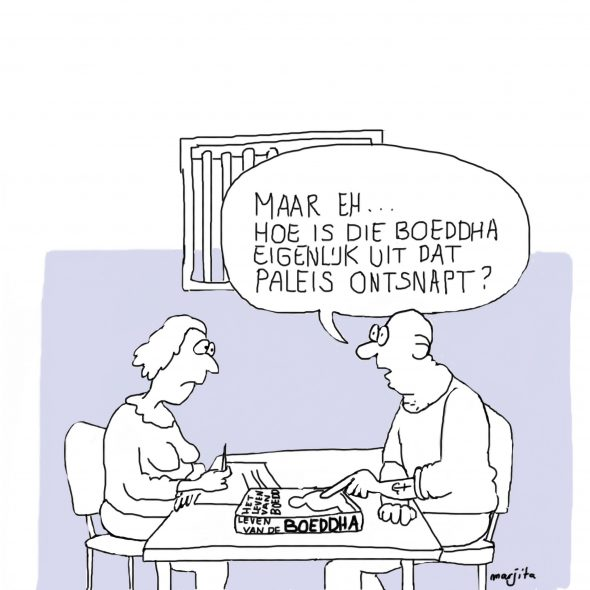 BGV in de bajes cartoon 4