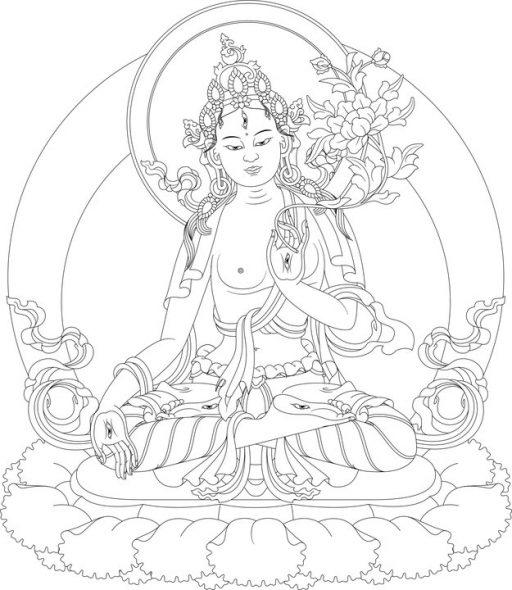 Witte Tara, ontwerp.