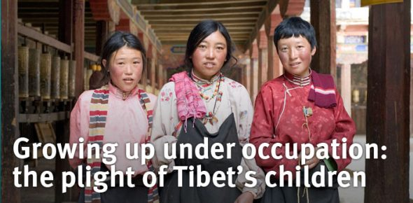 Tibet kinderen levend in onderdrukking Free Tibet