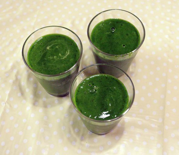 Groene smoothie.
