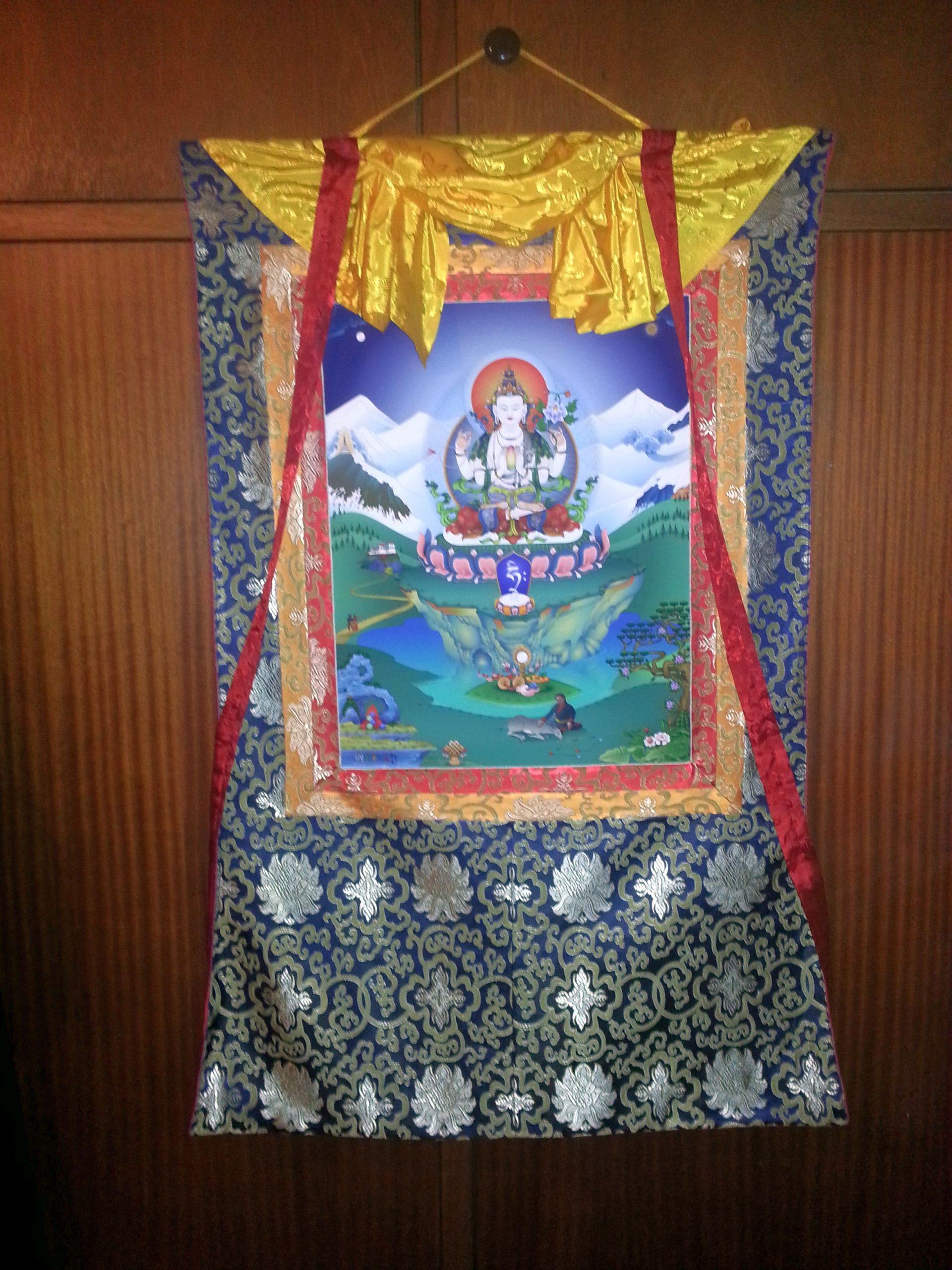 Thangka Avalokiteshvara door Fred van der Zee.