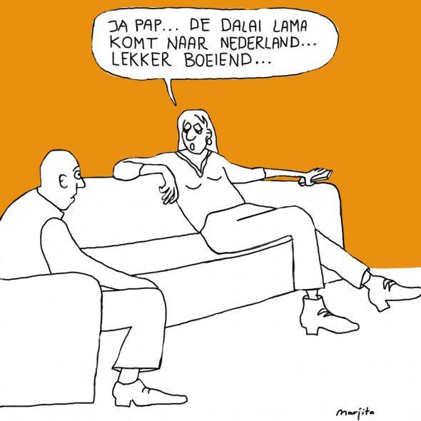 Dalai Lama naar Rotterdam 10 mei 2014