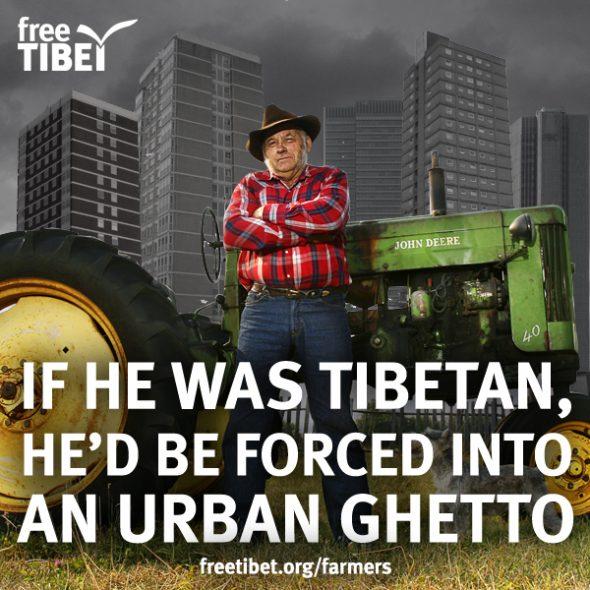 Free Tibet landbouw Tibet