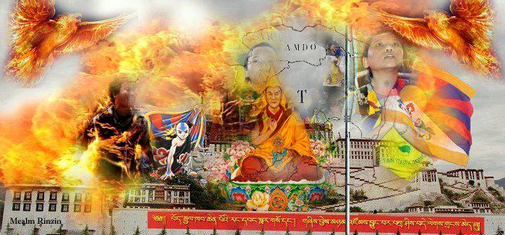 Collage Tibet gemaakt door Mealm Rinzin.