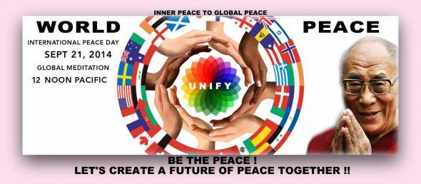 Vrede World Peace Global Meditation 21 sept 2014