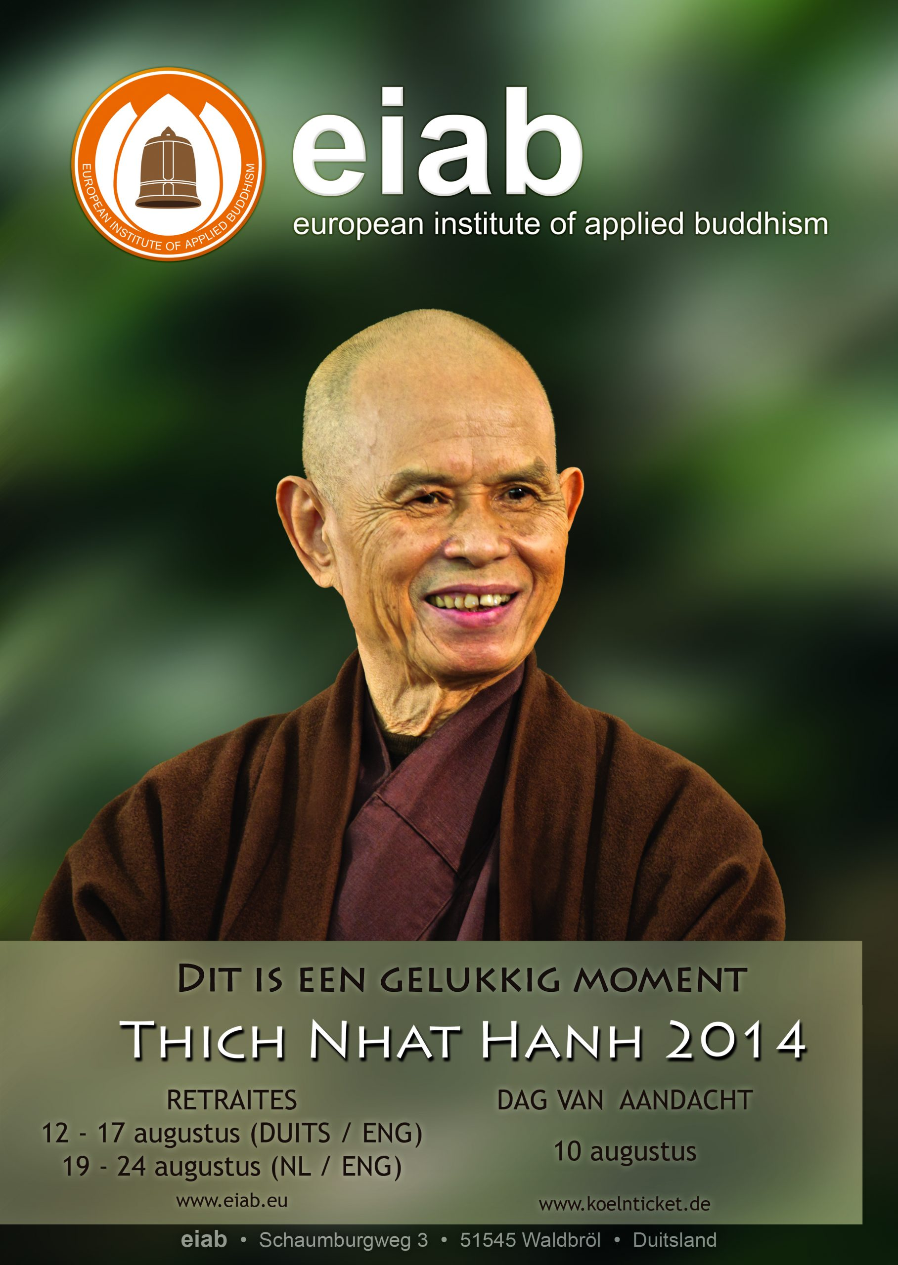 Beter Thich Nhat Hanh poster