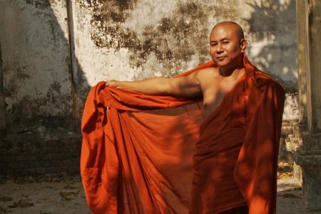 U Panda Wathra, saffron monnik, actievoerder tegen anti-moslimsentiment.
