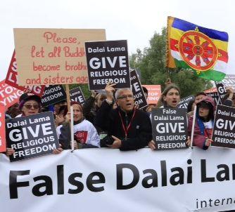 Demonstratie Dorje Shugden aanhangers