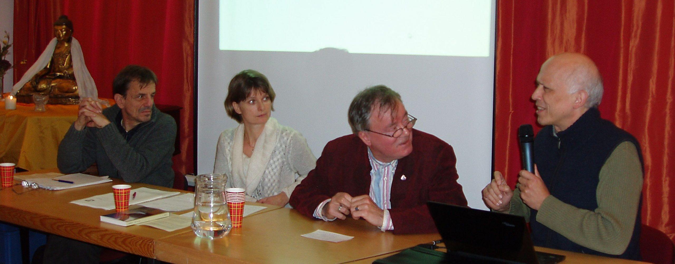 Varamitra, Crista-Anbeek, Acharya-dr.Han-de-Wit-prof. Henk-Barendregt.