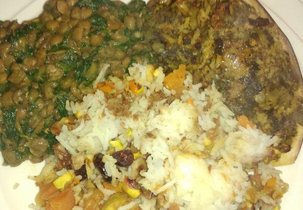 Drie gerechten uit Perzië