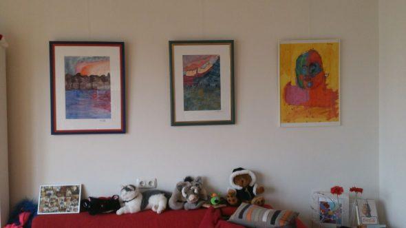 Teska Seligmann woonvorm muur met objecten