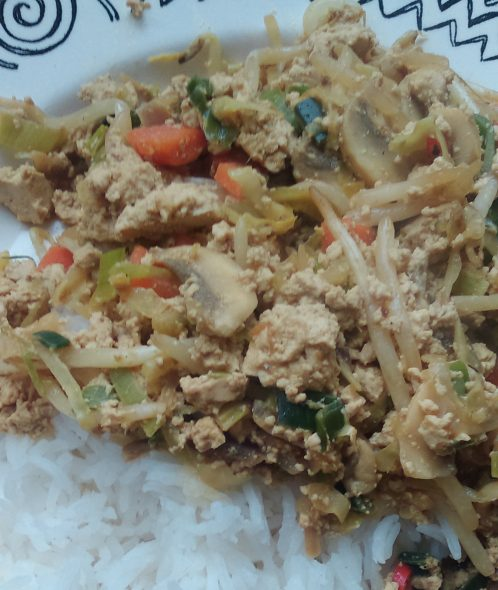 Beter chanpuru tofu scramble april 2015