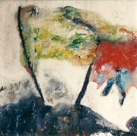 Anne Veen 1990 Olieverf op doek, 1.50 x 1.50 land van licht en lucht