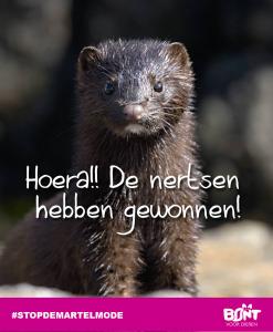 Bont voor dieren winst nertsen poster