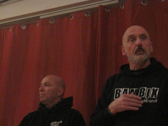 Noah Levine (r) en Frank Uyttebroeck. Foto Arjan Schrier.