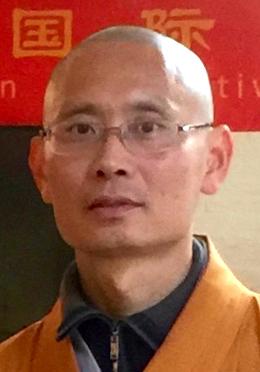 Abt van de tempel de eerwaarde Xiangi
