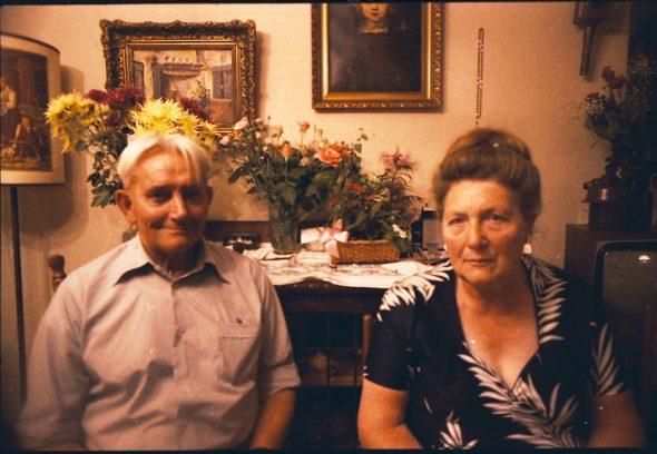 Hoek, Frans sr., met Grietje, 1979, Rotterdam