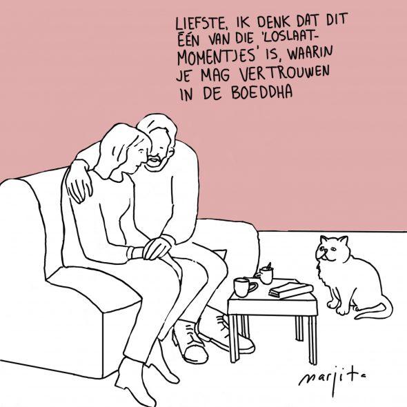 Cartoon loslaatmomentje 17 april 2016