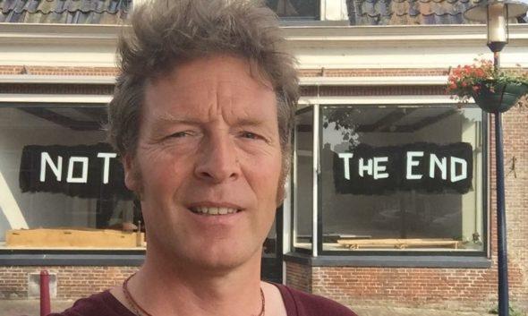 Menno Bijleveld voor zijn not the end expositie in Friesland