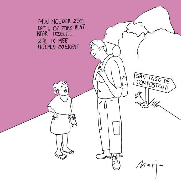 Cartoon mijn moeder zegt dat u op zoek bent naar uzelf, zal ik meezoeken 4 september 2016